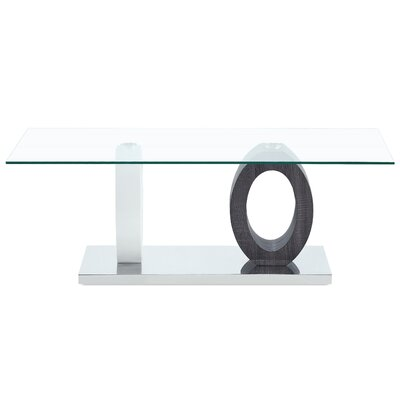 Dual Oval Base Style Cocktail Table By Global Furniture Decor+
