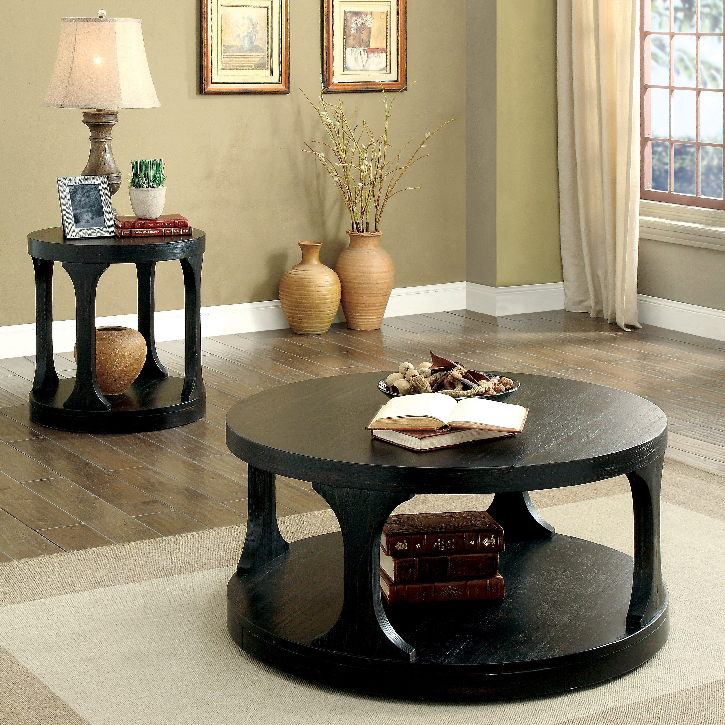 Transitional Coffee Table Sets 10