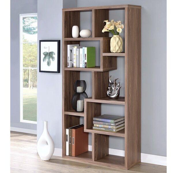 Burr Geometric Bookcase by Wrought Studio