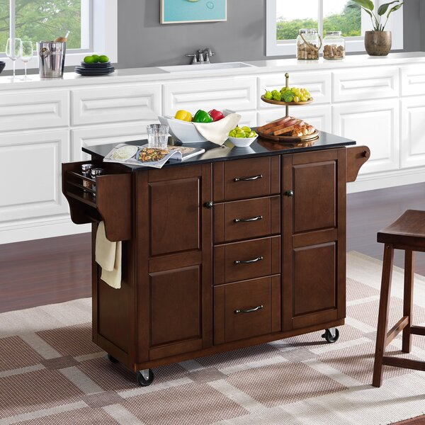 Iyana Kitchen Cart With Granite Top By Charlton Home Best #1