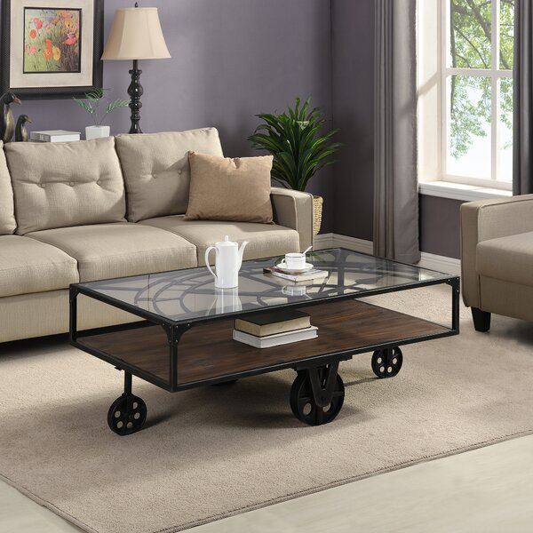 Beil Wheel Coffee Table With Storage By 17 Stories