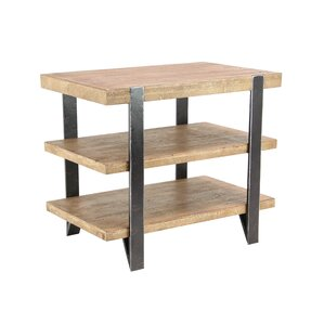 Axelson Modern Wood and Iron 3-Tiered Rectangular End Table by Loon Peak