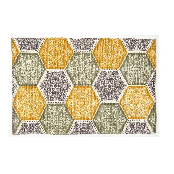 Mullaney Hand-Woven Yellow/Green Area Rug by Bloomsbury Market