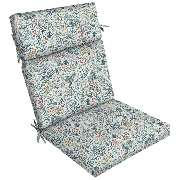 Pistachio Botanical Outdoor Dining Chair Cushion