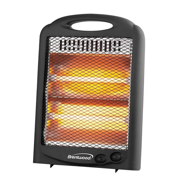 Portable Space 600 Watt Electric Infrared Compact Heater By Brentwood Appliances