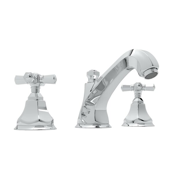 Palladian High Neck Widespread Bathroom Faucet with Drain Assembly
