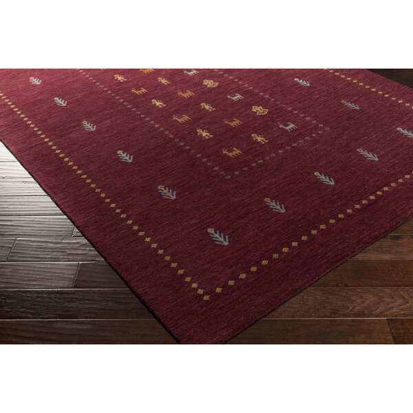 Taylor Cove Hand-Knotted Red/Blue Area Rug by Loon Peak