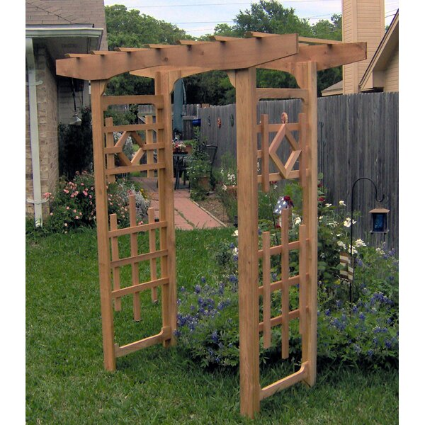 Window Cedar Wood Arbor by Threeman Products