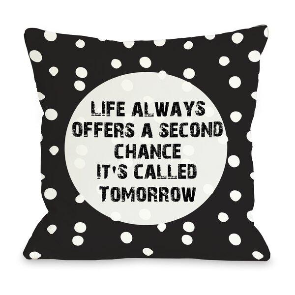 Second Chance Dot Throw Pillow by One Bella Casa