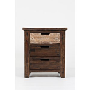 Rotterdam 3 Drawer Nightstand by Loon Peak