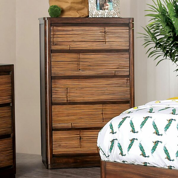 Lavina Wooden 5 Drawer Chest by Millwood Pines