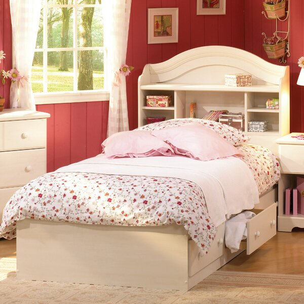 Summer Breeze White Wash Mates Bed by South Shore