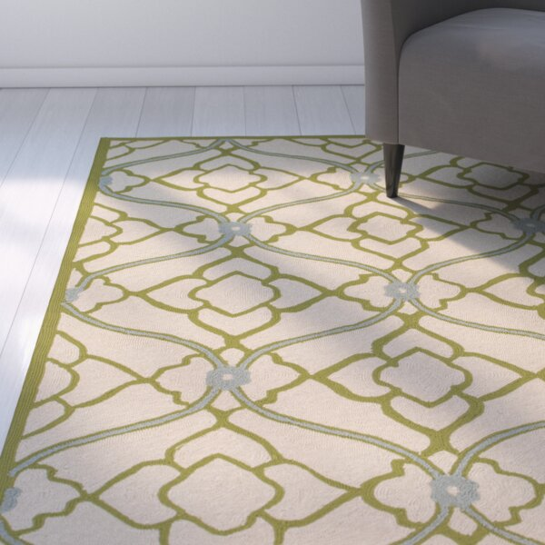 Grant Lime/Beige Indoor/Outdoor Area Rug by Latitude Run