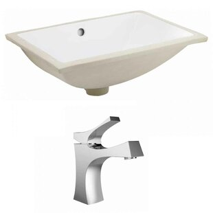 Online Reviews CUPC Ceramic Rectangular Undermount Bathroom Sink with Faucet and Overflow ByRoyal Purple Bath Kitchen