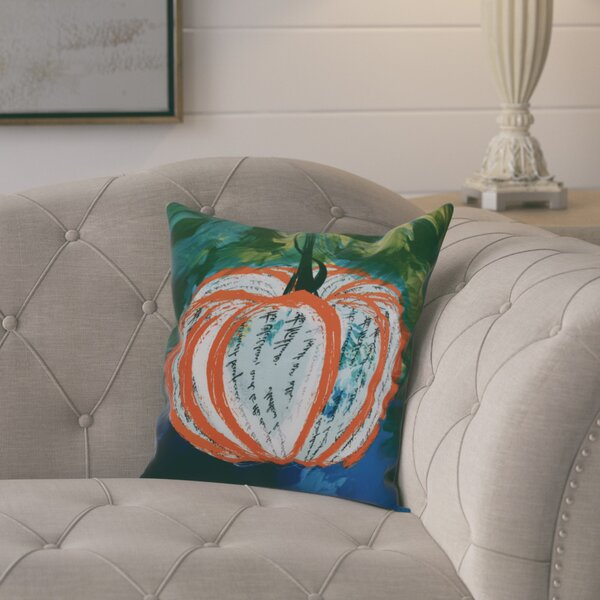 Ames Artistic Pumpkin Outdoor Throw Pillow by August Grove