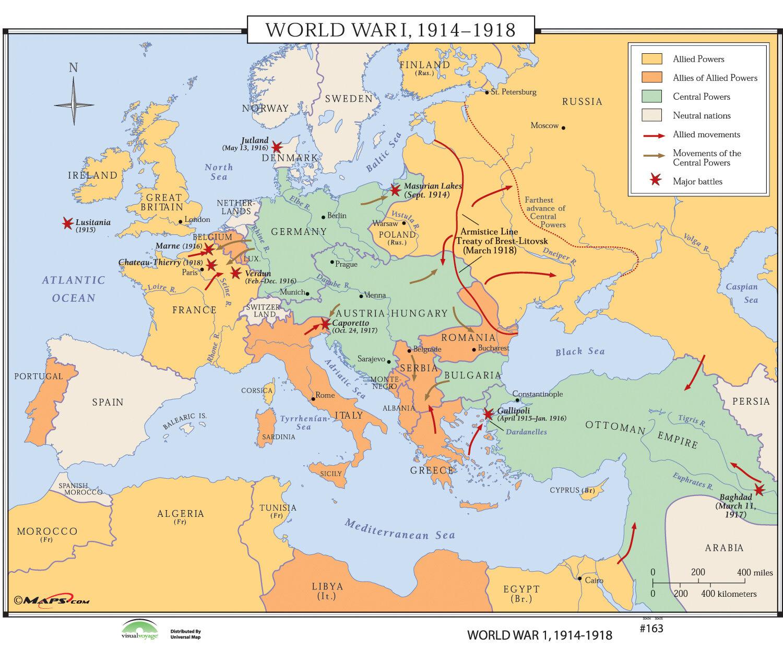 Universal map world history wall maps world war i 1914 1918 wayfair gumiabroncs Gallery