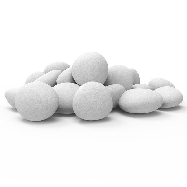 Lightweight Fiber Gas Ethanol Electric Fireplace Pebble (Set of 24) by Regal Flame