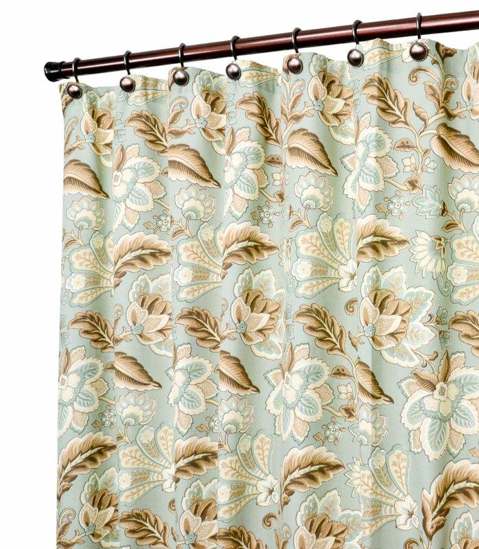 Fulton Jacobean Floral Print Shower Curtain