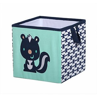 Clearance Tyann Raccoon Fabric Cube and Bin By Harriet Bee