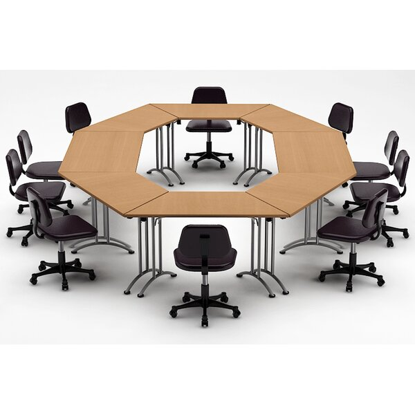 Meeting Seminar 8 Piece Circular 30H x 120W x 180L Conference Table Set by Team Tables