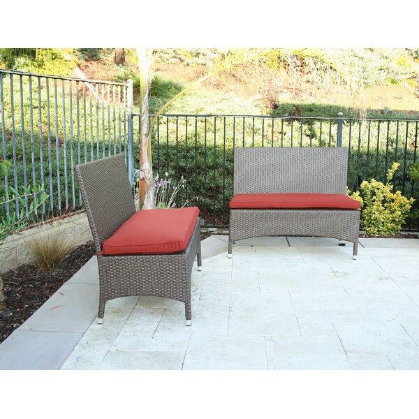 Inglestone Common Wicker Garden bench (Set of 2) by Brayden Studio
