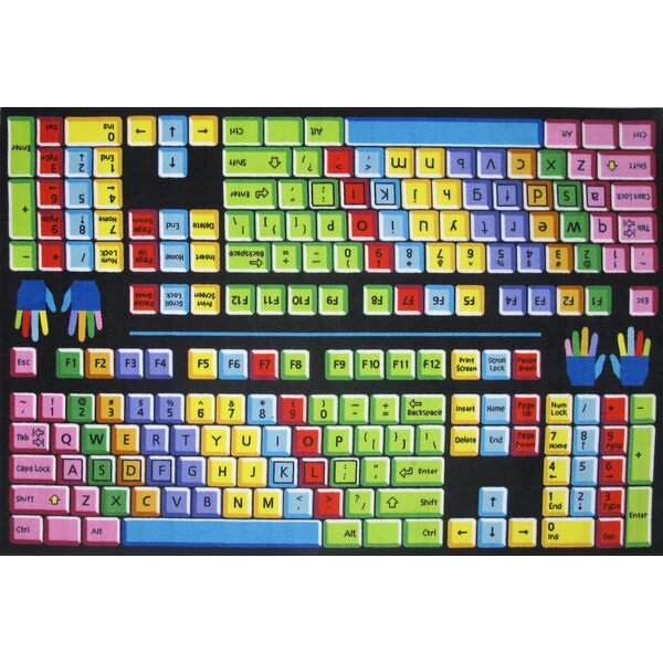 Fun Time Keyboard Kids Rug by Fun Rugs