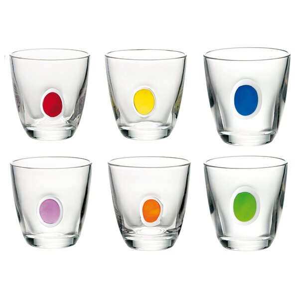 Gocce 6.75 Oz. Glass Every Day Glass (Set of 6) by Guzzini