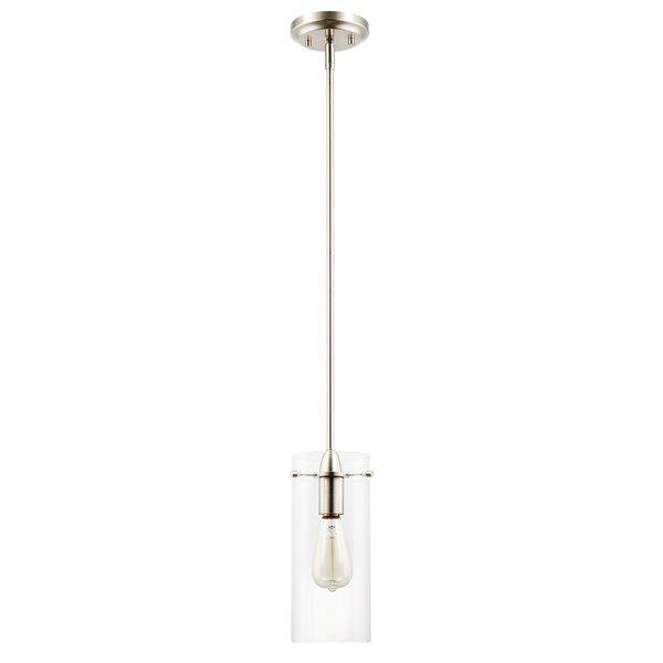 Barham 1-Light Cylinder Pendant by Gracie Oaks