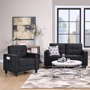 Sofa Set Morden Style Couch Furniture Upholstered Armchair, Loveseat And Three Seat For Home Or Office 1+2 Seat by Ebern Designs