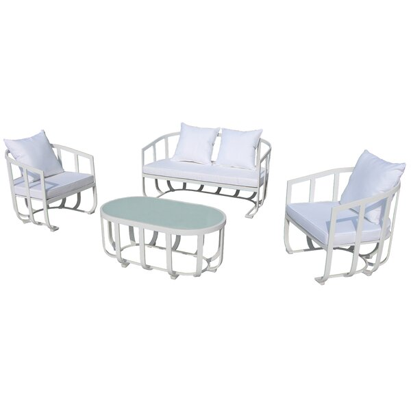 Tallmadge 4 Piece Sofa Seating Group by Wade Logan Wade Logan