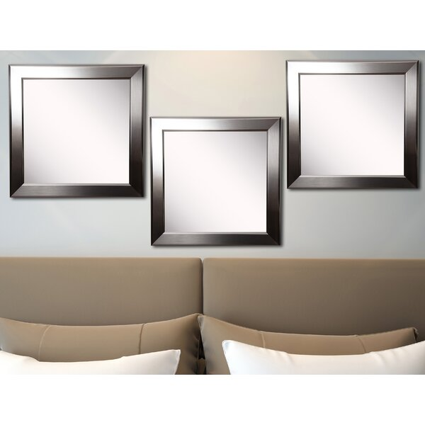 Osibodu Silver Rounded Wall Mirror (Set of 3) by Orren Ellis