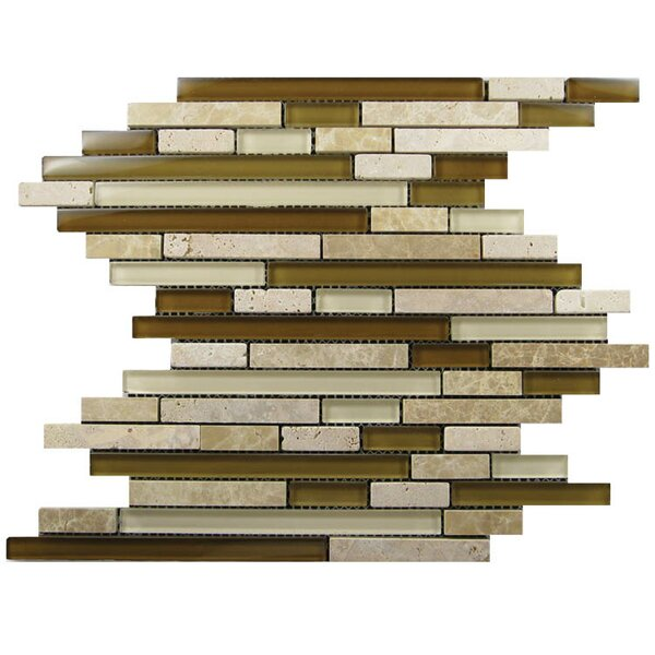 Glass Mosaic Tile in Brown/Beige by QDI Surfaces