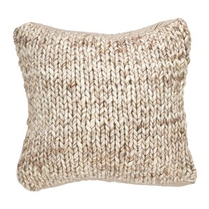 Superior Deimer Chunky Wool Cable Knit Throw Pillow