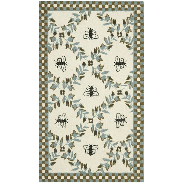 Kinchen Ivory/Blue Area Rug by August Grove
