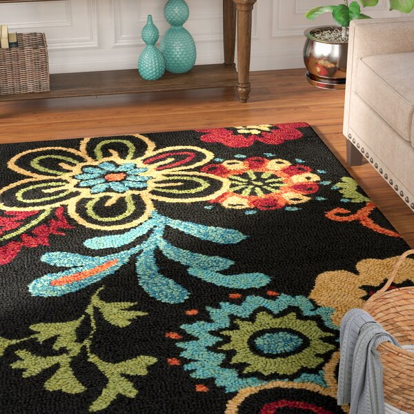 Leopold Black Indoor/Outdoor Rug by Andover Mills
