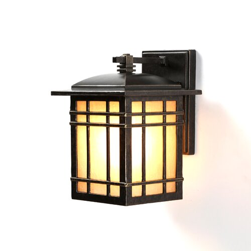 Wer Rustic Outdoor Wall Lantern In