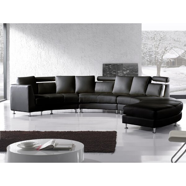 Hiep Leather Sectional by Orren Ellis