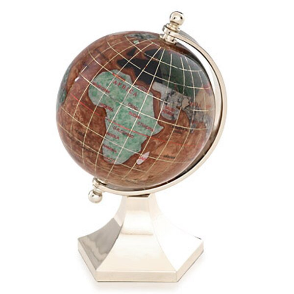 Gemstone Globe with Opalite Ocean and Contempo Stand by Alexander Kalifano