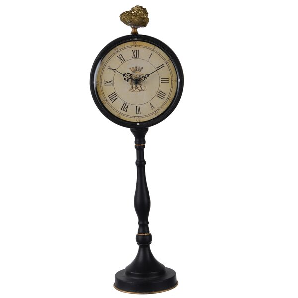 Pedestal Tabletop Clock by Astoria Grand