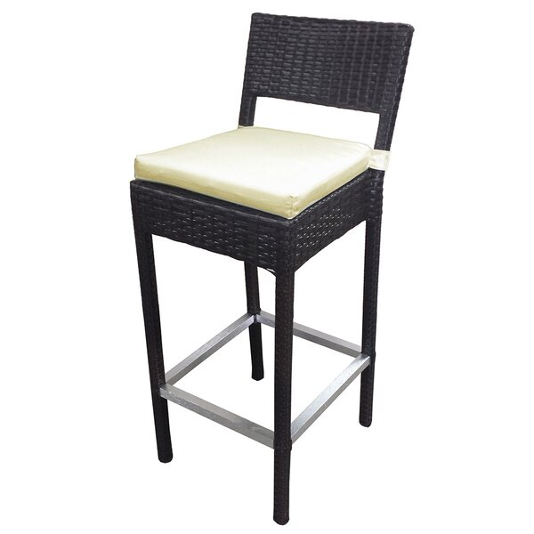 Preston 27.3 Patio Bar Stool with Cushion (Set of 2) by Vandue Corporation