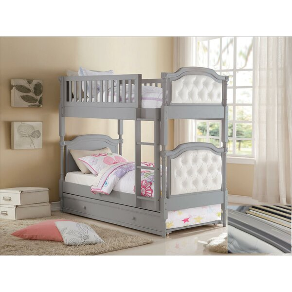 Yarmuth Twin over Twin Bunk Bed with Drawers by Harriet Bee
