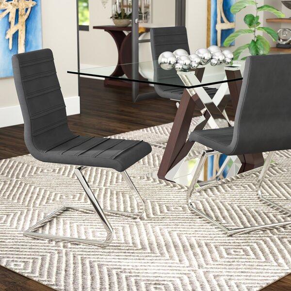 Janet High Back Upholstered Dining Chair (Set Of 2) By Orren Ellis