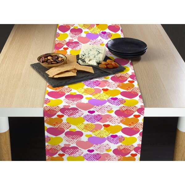 Mccarty Confetti Hearts Table Runner by Latitude Run