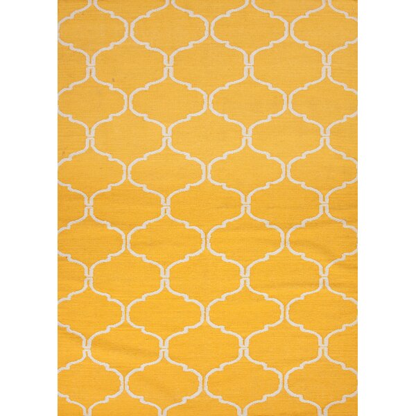 Caresse Hand-Woven Yellow Area Rug by Willa Arlo Interiors
