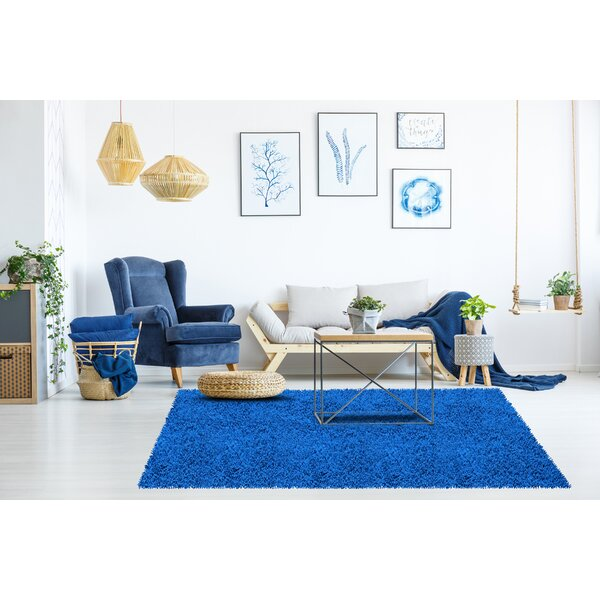 Shagadelic Hand-Loomed Neon Blue Area Rug by St. Croix