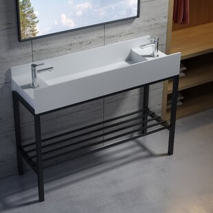 Check Prices Wolkeseiben Stone 47 Console Bathroom Sink By InFurniture