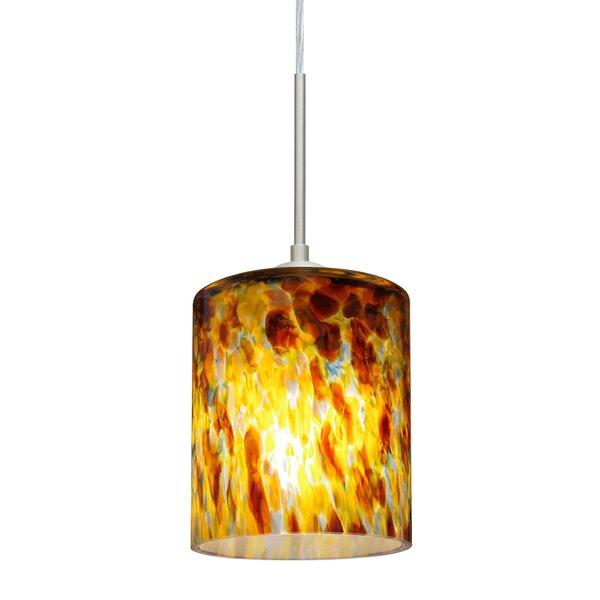 Falla 1-Light Cylinder Pendant by Besa Lighting