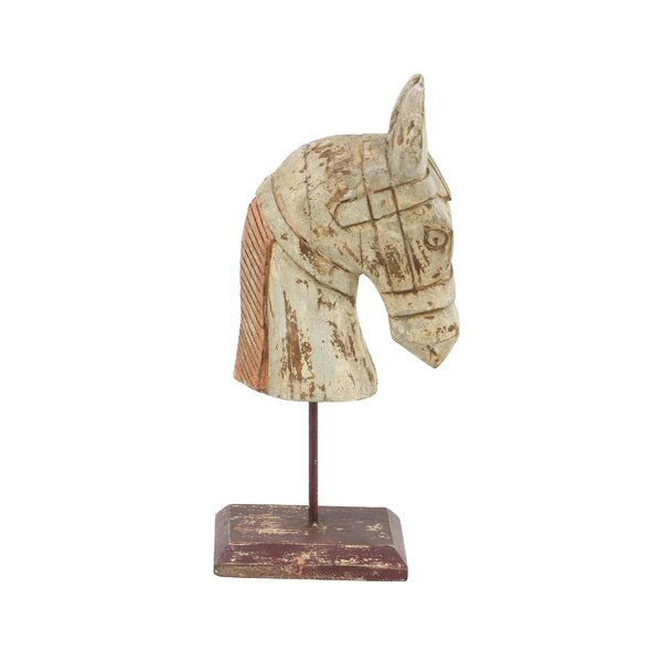 Vicknair Horse Head Wood Figurine by Ophelia & Co.