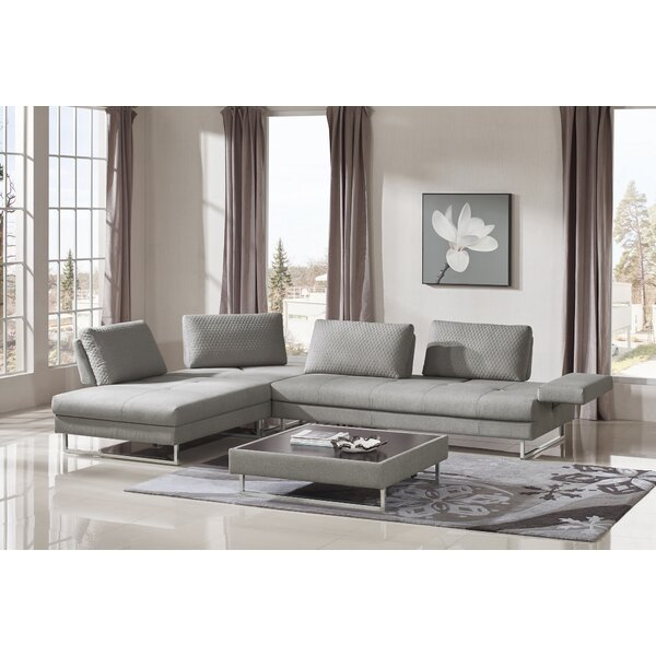 Wensley Modern Fabric Sectional Sofa 4 Piece Living Room Set by Orren Ellis
