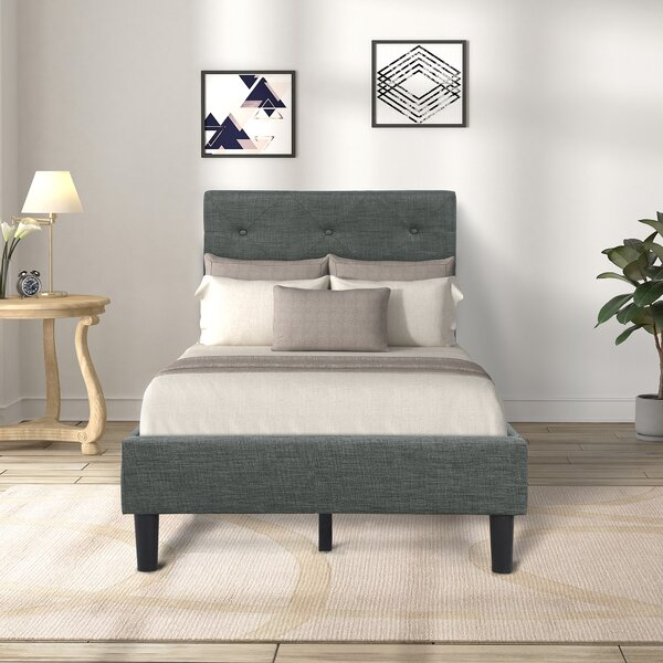 Plympton Upholstered Platform Bed by Ebern Designs